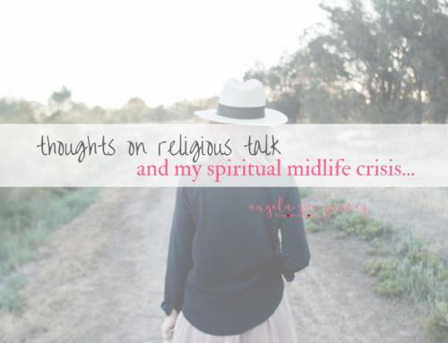 On religious talk…